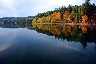 Foster Reservoir - Image: Foster Reservoir (Linn County, Oregon scenic images) (linn DA0050a)
