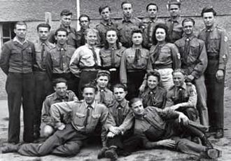 Scouting and Guiding in Belarus - The founders of the Belarusian Scouting in the West. Regensburg, spring 1946.