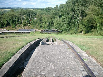 Canal inclined plane - The track of the Foxton Inclined Plane, which is no longer in use