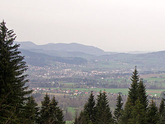 Frýdlant nad Ostravicí - The town from the slope of Lysá hora
