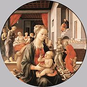 Fra Filippo Lippi - Madonna with the Child and Scenes from the Life of St Anne - WGA13237.jpg