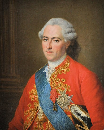 Louis XV a year before his death (1773) by Francois-Hubert Drouais Francois-Hubert Drouais - Louis XV - 1773.jpg
