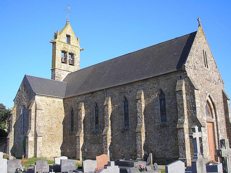 Champeaux (Normandie, France). L'église Saint-Vigor.