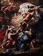 Francesco Solimena - Boreas Abducting Oreithyia, Daughter of Erechteus - 1729.jpg