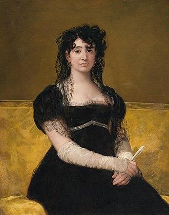 Antonia Zárate - Zárate by Goya, 1805.