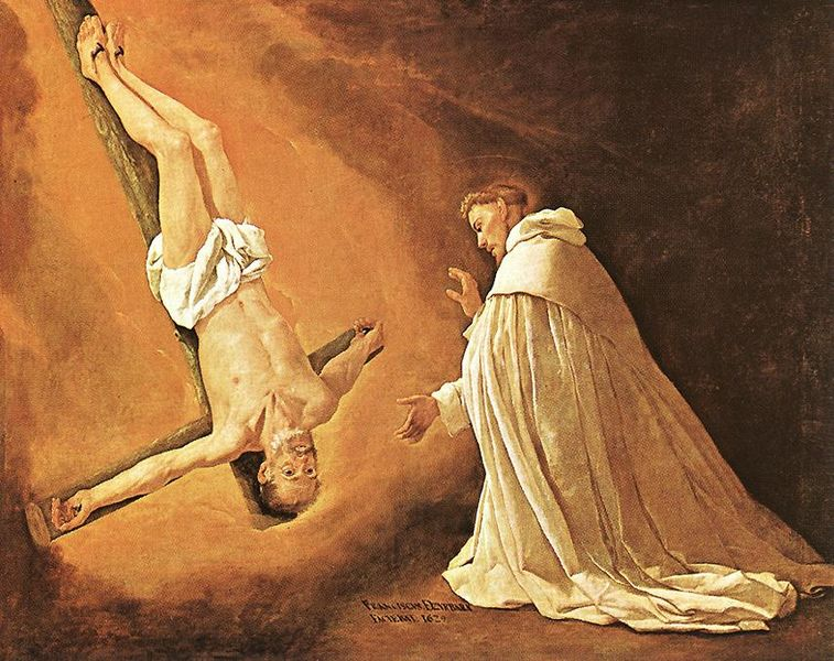 File:Francisco de Zurbarán - The Apparition of Apostle St Peter to St Peter of Nolasco - WGA26056.jpg