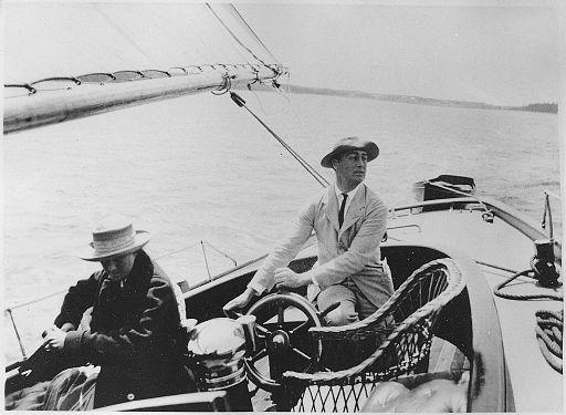 Franklin D. Roosevelt in Campobello - NARA - 195555