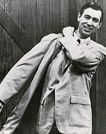 Rogers on the set of Mister Rogers' Neighborhood in the late 1960s