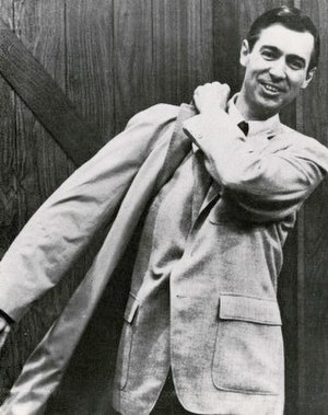 Mister Rogers' Neighborhood - Rogers on the set in the late 1960s.