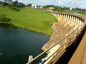 Nalubaale Hydroelectric Power Station - View from top of dam