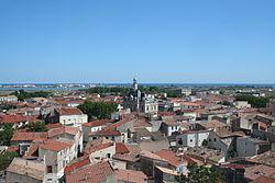 Frontignan mairie vue depuis clocher.JPG