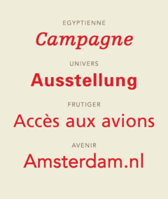 Specimens Of Typefaces By Adrian Frutiger