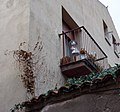 Funny girl on balcony - Segovia, Spain - panoramio.jpg