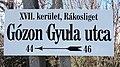 Gózon Gyula utca, tábla, 2019 Rákosliget.jpg