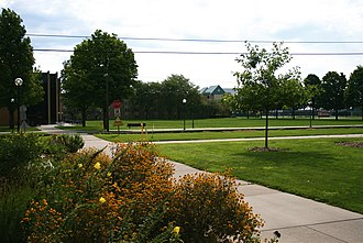 Goshen College - Image: GC facing east