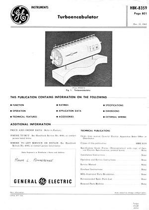 "Turboencabulator - Page 1 of 1962 description of a turboencabulator ""made"" by GE"