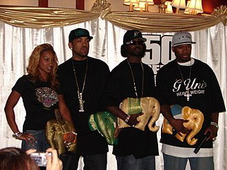 G-Unit - Olivia, Lloyd Banks, Young Buck and 50 Cent in Bangkok, February 2006