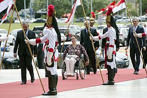 Gabriela Michetti - Michetti being received by the Vice-President of Brazil, Michel Temer in the Itamaraty Palace, Brasilia, 2015.