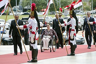 Gabriela Michetti - Michetti being received by the Vice-President of Brazil, Michel Temer in the Itamaraty Palace, Brasilia, 2015.