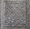 Gallen Priory Early Monastic Site Ringed Cross with Biting Serpents Detail Knotting Pattern 2010 09 10.jpg