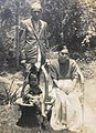 Ganesh Prasad Rijal and Kamala Devi Rijal with their granddaughter Meena Pokhrel (31462432707).jpg