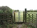 Gate into a cattle pasture - geograph.org.uk - 1539655.jpg
