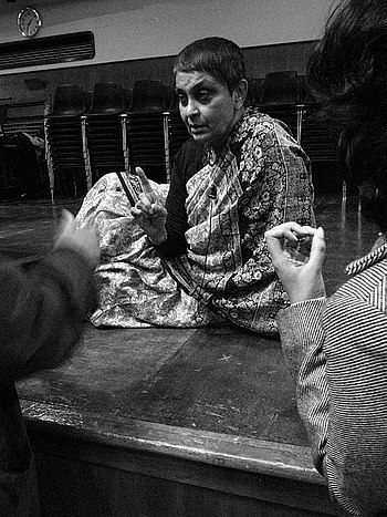 English: Gayatri Chakravorty Spivak at Goldsmi...