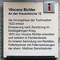 Gedenktafel An der Frauenkirche 12 (Meißen) Weingut Vincenz Richter.jpg