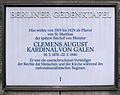 Gedenktafel Winterfeldtplatz (Schöb) Clemens August Graf von Galen.JPG