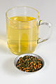 Genmaicha tea brewed and unbrewed.jpg