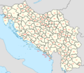 Geographical distribution of license plate codes in Yugoslavia.png