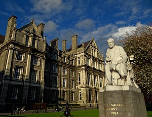 George Salmon - Sculpture by John Hughes of George Salmon in Trinity College Dublin