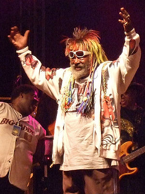 Psychedelic funk - George Clinton performs with P-Funk in 2007.