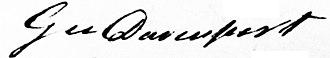 George Davenport - Image: George Davenport Signature