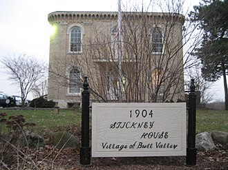 Bull Valley, Illinois - The George Stickney House in Bull Valley.
