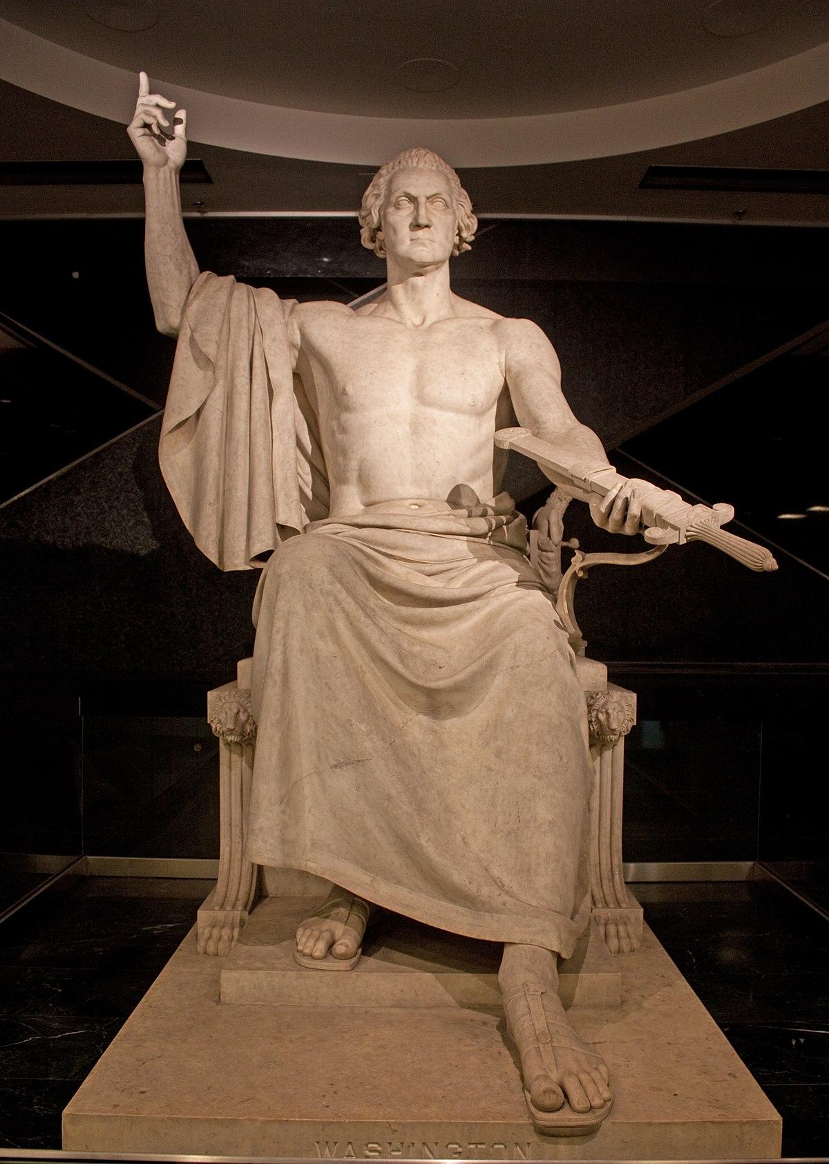 джордж вашингтон зевс фото статуя