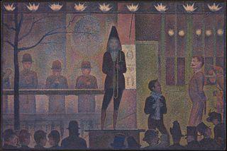 <i>Parade de cirque</i> painting by Georges Seurat