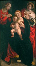 Gerolamo Giovenone - Madonna and Child with Saint Apollonia and one other saint.jpg