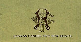 E.H. Gerrish Canoe Company - cover of E.H. Gerrish catalog dated 1898