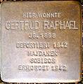 Gertrud Raphael Stolperstein.JPG