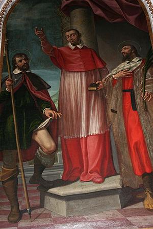 Giovanni Paolo Cavagna - St. Charles Borromeo between St. Roch and St. Pantaleon, Almenno San Salvatore.