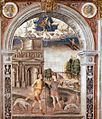 Giovanni Maria Falconetto, Mantua, Palazzo d'Arco, Sala dello Zodiaco, Sign of Aquarius.jpg