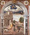 Giovanni Maria Falconetto, Mantua, Palazzo d'Arco, Sala dello Zodiaco, Sign of Aquarius.jpg