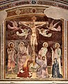Giovanni cristiani e bottega, natività, crocifissione con santi e compianto, 1390 ca. 06.jpg