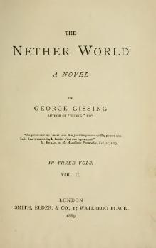 Gissing - The Nether World, vol. II, 1889.djvu