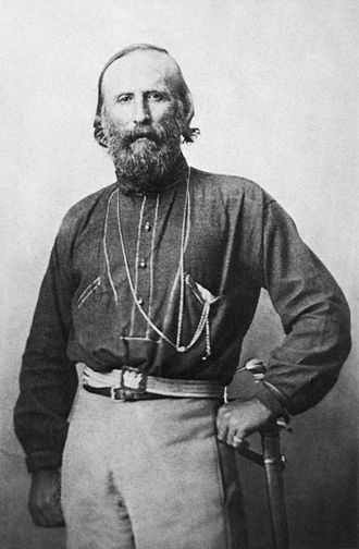 Italian nationalism - Giuseppe Garibaldi, the prominent Italian nationalist leader during the Risorgimento.