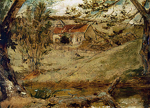 William Etty - Givendale Church (1843). In the 1840s Etty began painting landscapes for the first time.