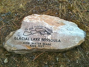 High water mark - High water mark memorial at Lake Missoula, Montana, United States
