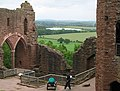 Goodrich Castle walls and view beyond. - geograph.org.uk - 473021.jpg