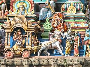 Gopuram - Detail of a gopuram at Chennai